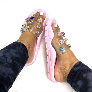 Rugged Jewels Slide in Pink